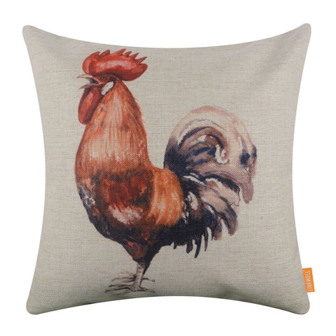 Modern Rooster Decorative Cushion Cover