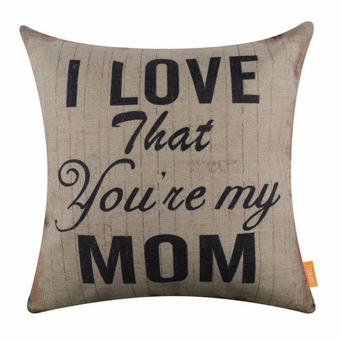 Image of Mother Day quoted pillow cover