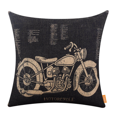 Motorcycle Black Striking Cushion Cover