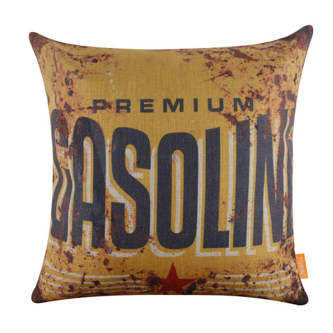 Image of Mustard gasoline pillow cover