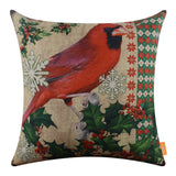 Northern Cardinal Pillow Cover for Christmas Decor