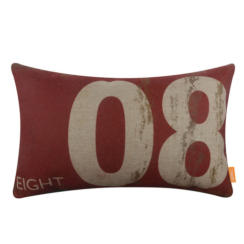 Number 8 Pillow Cover