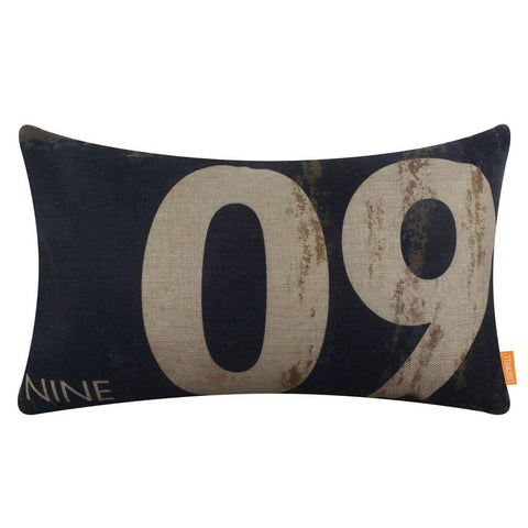 Image of Number Nine Black Pillow Cover