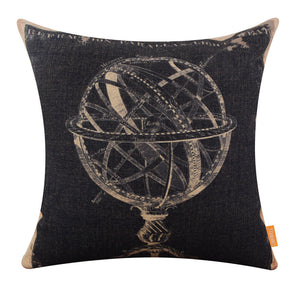 Old Spherical Globe Accent Pillow Cover