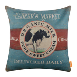 Organic Milk Farmhouse Pillow Cover
