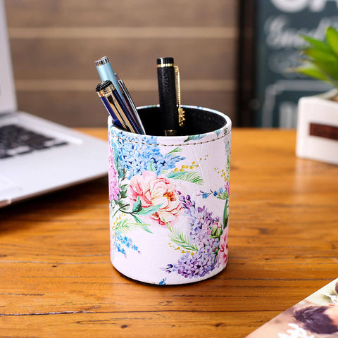 Blue and Purple Lilac Pen Holder