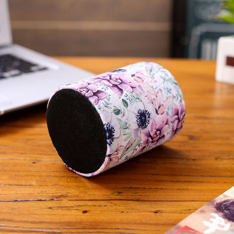 Image of Purple Floral Pattern Pen Holder