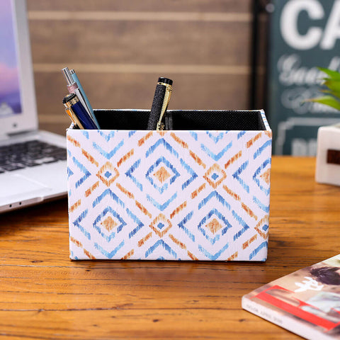 Diamond Ikat Pattern Pen Holder