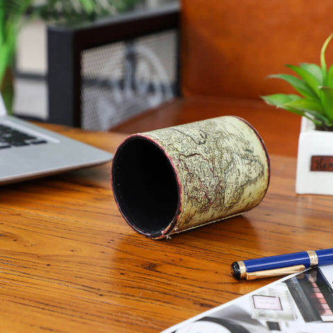 Image of Retro World Map Pen Holder
