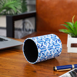 Blue Tie Dye Pen Holder
