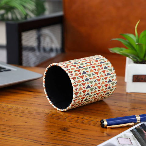 Image of Aztec Pattern Pen Holder