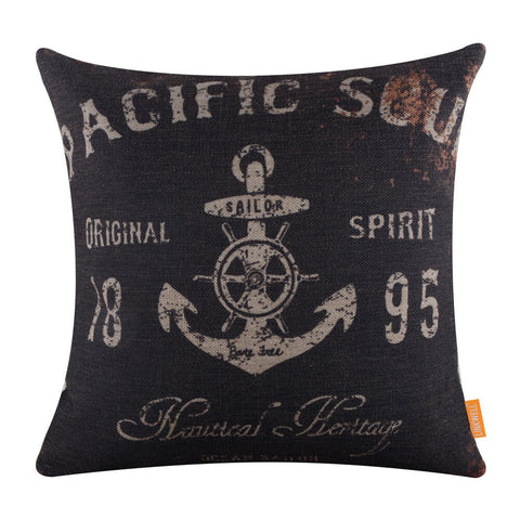 Pacific Soul Sailor Anchor Pillow Cover