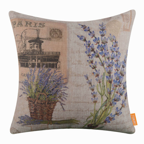 Paris Floral Pillow Cover