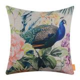 Peacock Spring Pillow Covers 18x18