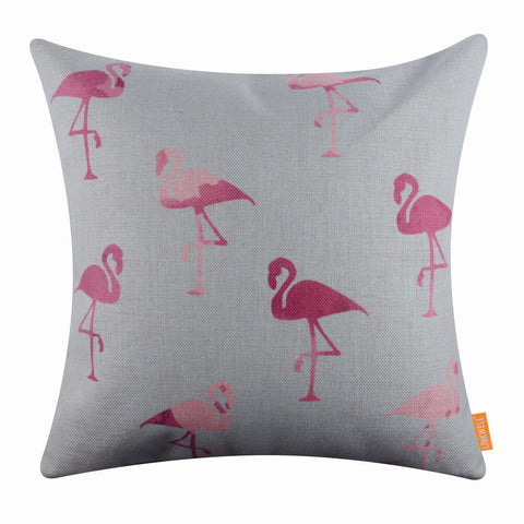 Image of Pink Flamingo Pillow Cover
