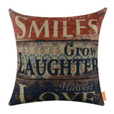 Plant Smiles Letter Word Cushion Slipcovers