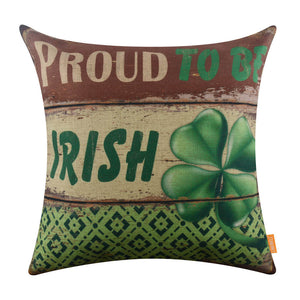 Proud to be Irish Pillow Cover for Saint Patrick's Day