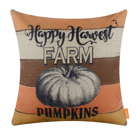 Image of Pumpkins Fall Pillow Cover