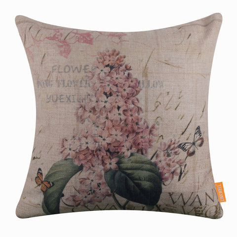 Purple Lilac Pillow Cover