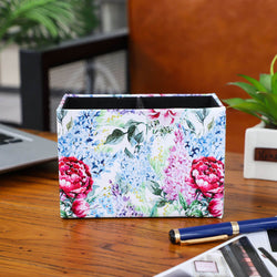 Purple and Blue Lilac Floral Pen Holder