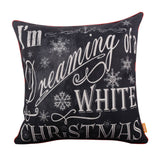 Red Binding Merry Christmas Cushion Cover