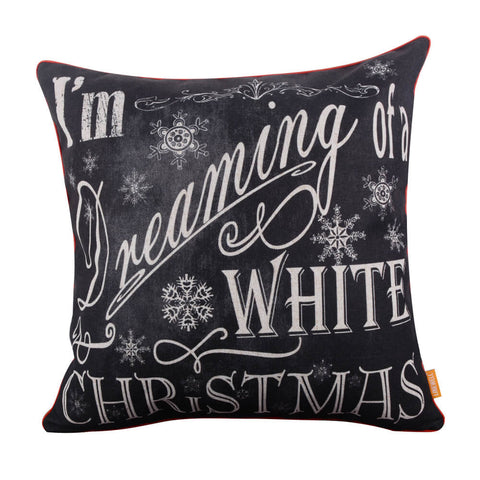 Image of Red Binding Merry Christmas Cushion Cover