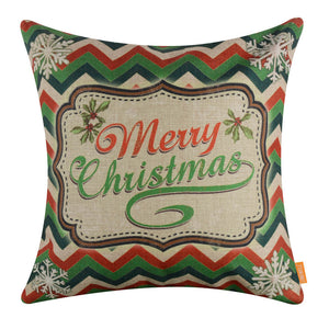 Red Green Merry Christmas Pillow Cover