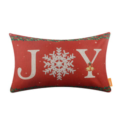 Red Joy Christmas Cushion Cover