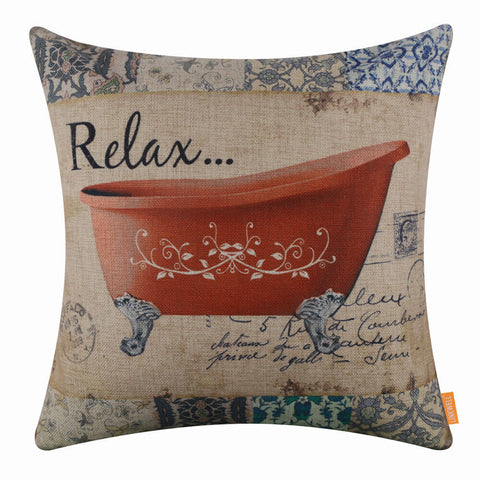 Relax Bath Pillow Cover