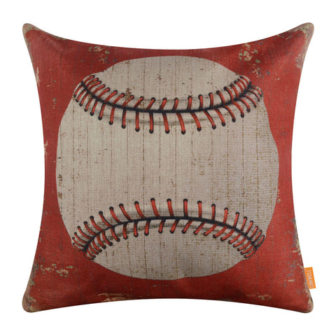 Retro Baseball Cozy Pillow Cover