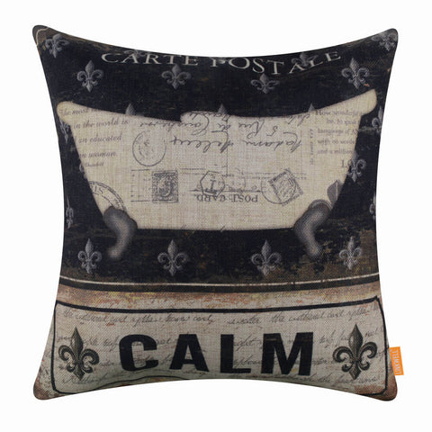 Image of Retro Black Bathtube Cushion Cover