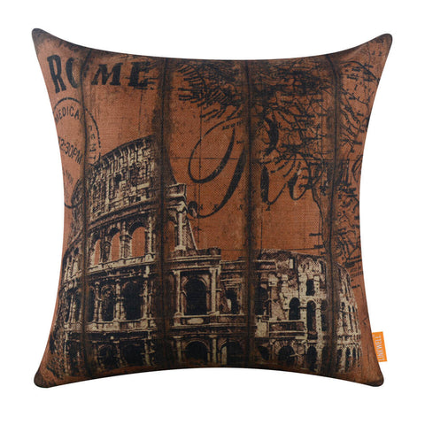Rome Colosseum 18 inch Square Pillow Covers