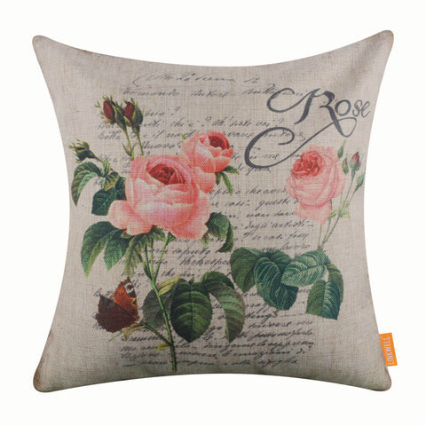 Rose Quote Pillow Cover