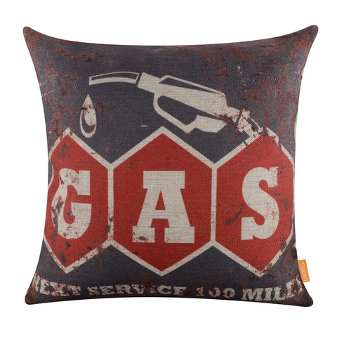 Image of Rusted Gas Station Pillow Cover