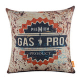 Rusted Gasoline Logo Pillow Cover