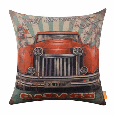 Image of Rusted Red Car Cushion Cover for Sale