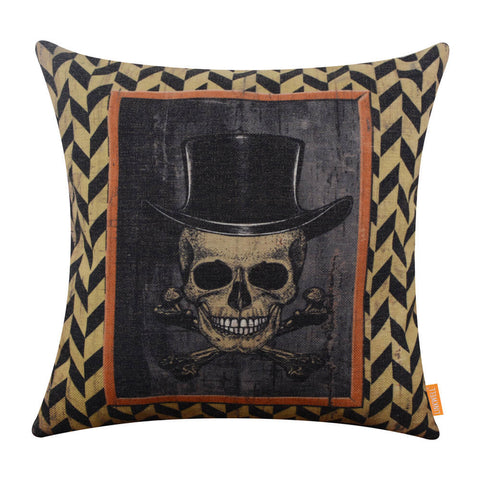 Image of Smiling Skull Cushion Cover