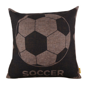 Soccer Pillow Throw Cover