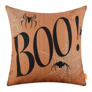 Spider Web Halloween Boo Pillow Cover