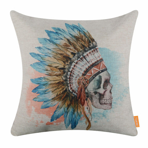 Sugar Skull Day of the Dead Calavera Pillow Cover