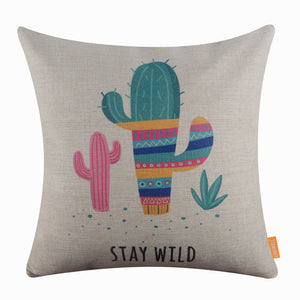 Summer Cactus Pillow Cover