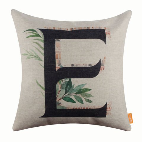 Image of Summer Letter E Pillow Cover