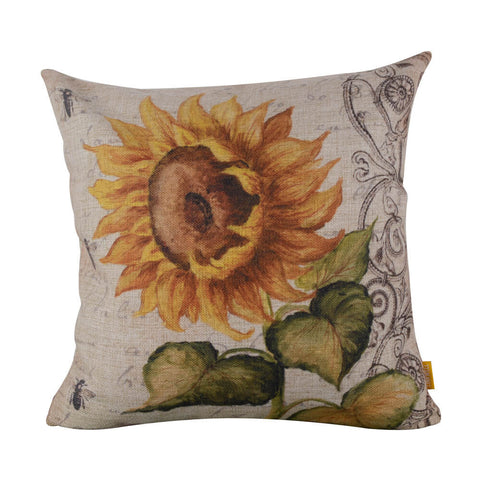 Image of sunflower pillow cover