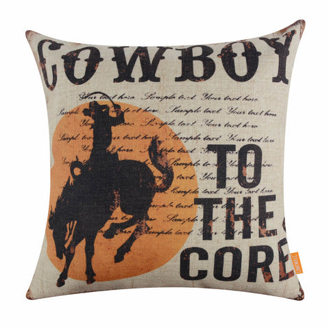 Sunset To the Core Cowboy Pillow Cover