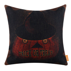 Trick or Treat Halloween Pumpkin Ghost Pillow Cover