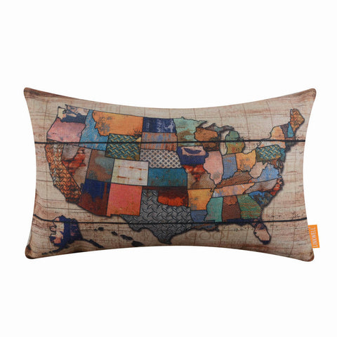 Image of USA Map Cushion Cover