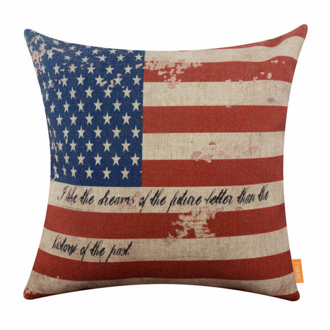 USA National Flag Decorative Couch Pillow Cover