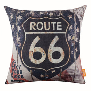 USA National Flag Independence Day Pillow Cover