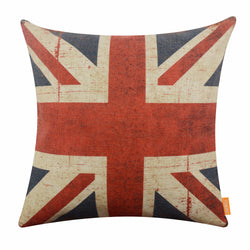 Union Jack Pattern 18 x 18 Pillow Cover