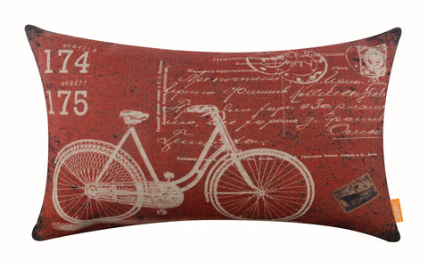Image of Vintage Red Waist Cushion Cover